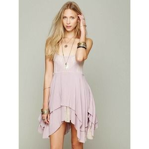 Free People Wisteria Pieced Trapeze Lace Slip
